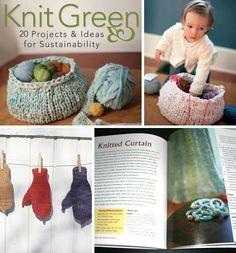 books knitting: Knit Green    recycled fabric yarns