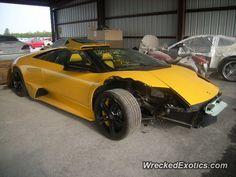 Lamborghini Murcielago Roadster crashed in TX