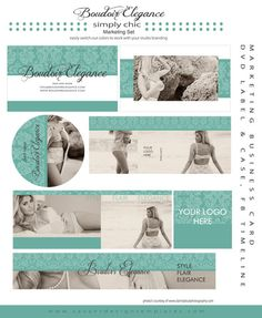 Boudoir Elegance Photography Marketing Set by Savant Design Templates | Savant Design Templates