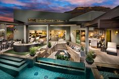 Take a swim, enjoy the fireplace, or relax on the patio- the possibilities are endless for this space at Granite Heights, Nev.