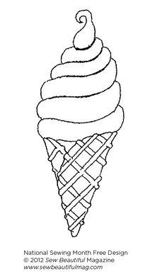 Sew Beautiful Blog: Free Daily Design: Ice Cream Cone Design
