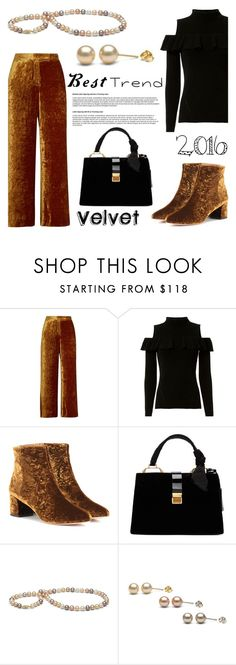 """""""Best Trend of 2016/Velvet"""" by pearlparadise ❤ liked on Polyvore featuring A.L.C., Exclusive for Intermix, Aquazzura, Miu Miu, velvet, contestentry, pearljewelry, pearlparadise and besttrend2016"""