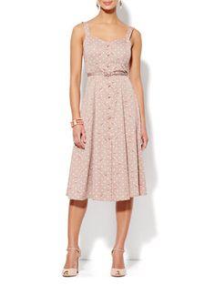 how to wear the Eva Mendes dresses | Eva Mendes Collection - Annabelle Dress - Polka-Dot Rose Print
