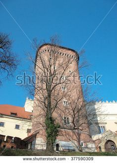 Tower of Krakow fortress - stock photo