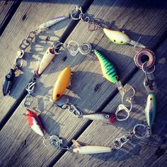 Beach Combed Fishing Lure and Beach Trash Christmas Tree Decoration Garland