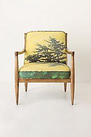 I have a chair a lot like this. I love the original vinyl on it, but something way out like this would also be delightful.