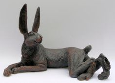 Listening Hare Sculpture in the Garden