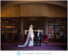 Love the library at Berkeley City Club!  Wedding Photography.
