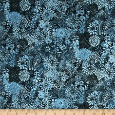 Packed Floral Tonal Dark Blue from @fabricdotcom  This fabric is perfect for quilting, apparel and home decor accents. Colors include shades of darker blue.