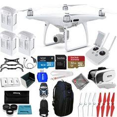 DJI Phantom 4 Pro Quadcopter! NEW MODEL! 3 BATTERY EVERYTHING YOU NEED MEGA KIT - Walmart.com #phantom3dronevideos