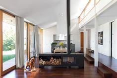 Home Fireplace, Fireplace Design, Fireplaces, Black Fireplace, Modern Fireplace, Fireplace Ideas, Wood Burning Stove Fan, Freestanding Fireplace, Clerestory Windows