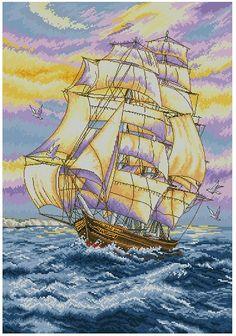 Наборы вышивки крестом корабли