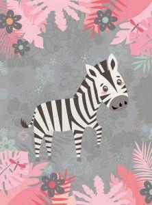 panel kocykowy zebra