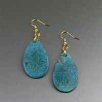 These simple pear-shaped Blue Patinated Copper Tear Drop Earrings give your everyday look a stylish edge. The beautiful blue color and texture reveal an elegant combination that pairs well with everything from jeans to evening dresses with ease. Copper Cuff, Copper Earrings, Blue Earrings, Copper Jewelry, Teardrop Earrings, Copper Gifts, Handmade Copper, Handmade Jewelry, Copper Anniversary Gifts