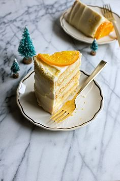 Golden Ginger & Orange Cake with Cream Cheese Frosting by hungrygirlporvida #Cake #Orange #Ginger