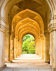 corridors at kuli kutub shahi tombs # hyderabad # telangana Beautiful Sites, Beautiful World, Beautiful Places, Places Around The World, Around The Worlds, Entrance Gates, South India, Incredible India, Amazing