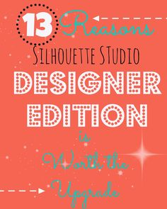 I really wanna upgrade.Silhouette Studio Designer Edition: 13 Reasons Why It's Worth the Upgrade Silhouette Curio, Silhouette Cameo Vinyl, Silhouette Cutter, Silhouette Portrait, Silhouette Machine, Silhouette Files, Silhouette Studio Designer Edition, Silhouette Design Studio, Silhouette Cameo Tutorials