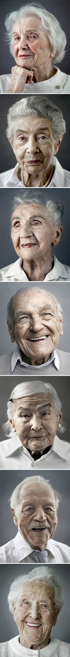 """""""Happy at Hundred"""" by Karsten Thormaehlen. A beautiful collection of portraits from elderly men and women know as """"centenarian"""" and have reached the age of Age IS just a number! Look at that strength and those beautiful smiles! Beautiful Smile, Beautiful People, Foto Face, Old Faces, Advanced Style, Young At Heart, Portraits, Ageless Beauty, People Of The World"""
