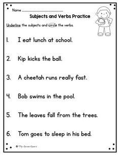 Seasons- First Grade Supplemental Unit Writing Sentences Worksheets, Subject And Predicate Worksheets, Writing Curriculum, English Grammar Worksheets, 1st Grade Worksheets, Sentence Writing, Grammar Lessons, Writing Lessons, Journeys First Grade