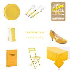 Color Obsession: Lemon Yellow Bridal Shower Ideas — Showerbelle | Host a Happy Bridal Shower