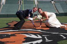 www.ronwoodphoto.com  football wedding pose