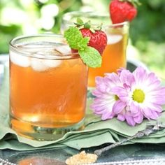 Watermelon Lemonade and Strawberry-Mint Iced Tea -- two refreshing drinks to beat the sweltering heat.  Perfect for Memorial Day Weekend!