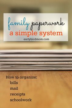 Paperwork is a major source of clutter for families. Simplify your life at home with a simple DIY filing system and organize the paper clutter for good. Don't miss the free printable organizing checklist to get you started quickly!