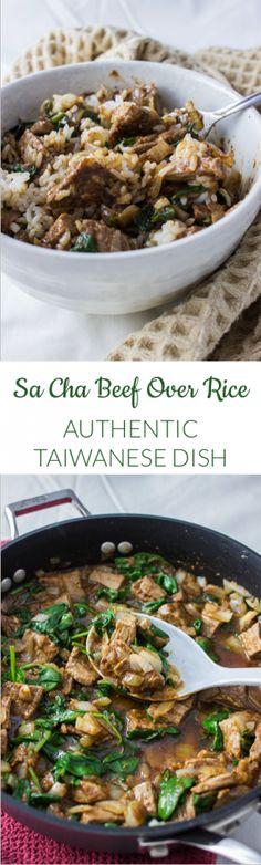 TAIWANESE SA CHA BEEF OVER RICE | savorytooth.com