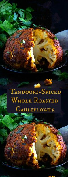 This healthy and delicious tandoori cauliflower features cauliflower coated in tandoori paste and baked until tender Green Tomato Recipes, Veggie Recipes, Indian Food Recipes, Vegetarian Recipes, Dinner Recipes, Cooking Recipes, Healthy Recipes, Savoury Recipes, Kitchen Recipes