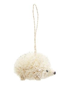 White Bristle Hedgehog Decoration