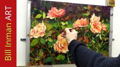 How to Paint Roses - Brush Techniques for Acrylic and Oil Painting by Bi...