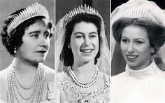 ENGLAND ~ The Russian Fringe tiara - worn by Queen Elizabeth, the Queen Mother, Princess Elizabeth