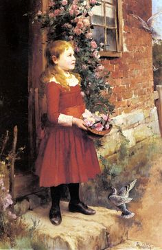 the-youngest-daughter - Alfred Glendening Jr. (1861-1907, English)