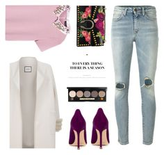 """""""OOTD#19"""" by marie-de ❤ liked on Polyvore featuring Max&Co., Yves Saint Laurent, Manolo Blahnik, Max & Moi, Gucci and Bobbi Brown Cosmetics"""