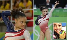 Laurie Hernandez gave the judges a cheeky wink before floor routine #Daily Mail...
