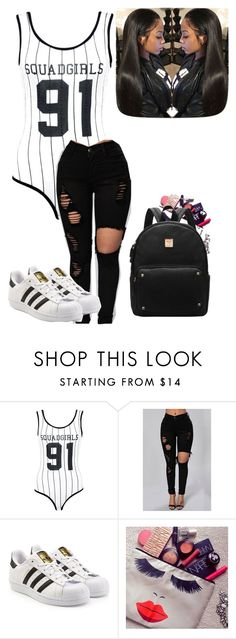 """Squad Won't Stop ✌"" by battle-jakeria on Polyvore featuring Boohoo and adidas Originals"