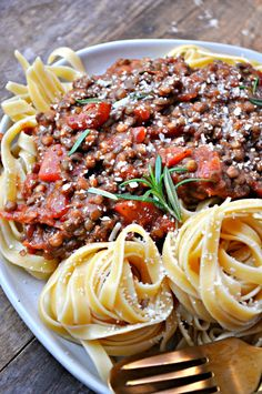 Lentils seasoned with chorizo spices are turned into the most delicious, healthy and satisfying bolognese. Serve over your favorite pasta for the best meal ever!