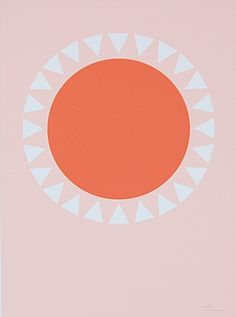 Orange Sun print by Honey  Bloom #serenaandlily