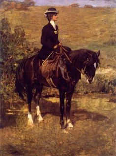 Researching and researching this painting, and finding nothing new. Equestrian Lady 1901 Sir John Lavery RA