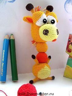 Развивающие игрушки ручной работы. Ярмарка Мастеров - ручная работа Букет жирафов :) игрушка-погремушка. Handmade.