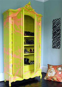 Bright yellow Graffiti Wardrobe, I swoon!