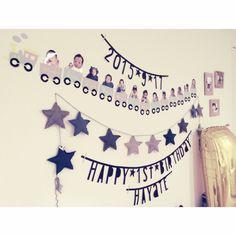 お誕生日会の飾り付け!折り紙から毛糸まで簡単手作りアイデア