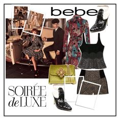 """""""Soirée de Luxe with bebe Holiday: Contest Entry"""" by aida-1999 ❤ liked on Polyvore featuring Bebe and Burberry"""