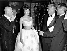 #Fifties | Yul Brynner, Sophia Loren, Jacques Tati and Cary Grant, Night of the Chancellery, Paris, 1959