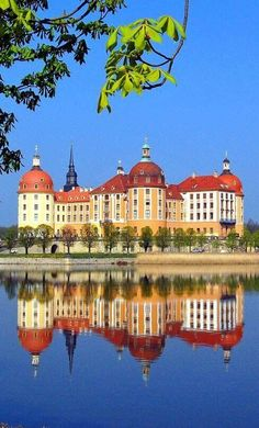 Schloss Moritzburg, Germany: This Baroque palace was built in Moritzburg, northwest of Dresden, Saxony. Beautiful Castles, Beautiful Buildings, Beautiful Places, Amazing Places, Vacation Places, Places To Travel, Places To Visit, Travel Around The World, Around The Worlds