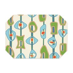 Beautiful Mid Century Modern Placemats