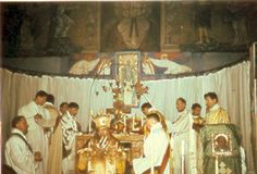 Saint John celebrating the 'Pontifical Liturgy of Saint Germanus at the Cathedral of Saint Irenaeus in Paris. Saint John, Catholic Saints, Orthodox Icons, Holy Spirit, Cathedral, Oc, France, Paris, Celebrities