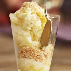 Coconut-Mango Frozen Yogurt // More Healthy Desserts: http://www.foodandwine.com/slideshows/healthy-desserts #foodandwine