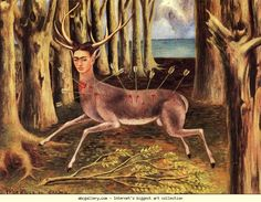 Frida Kahlo. The Little Deer. 1946. Oil on masonite. 22.5 x 30 cm. Private collection.