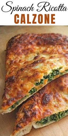 Spinach Ricotta Calzone - A calzone is thin-crust pizza folded before you bake it  rather than after! If you love pizza (and who doesnt?) you will love these calzones!  #Calzone #Ricotta #Vegetarians #recipe #veggie